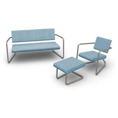 Lonc steeler, fotel yebane outdoor, niebieski, rama srebrna, in- i outdoor p 055 1032 (8719747653418)