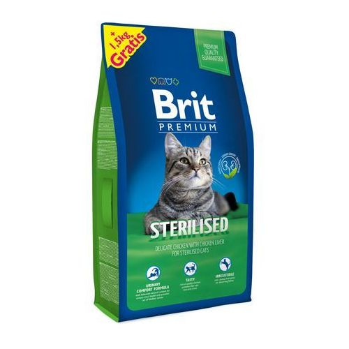 Brit sucha karma dla kota sterilised 8 kg + 1,5 kg (8595602513178)