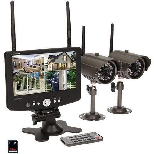 Orno System monitorujący  mt-je-1801 4-kanałowy bezprzewodowy cctv + darmowy transport!