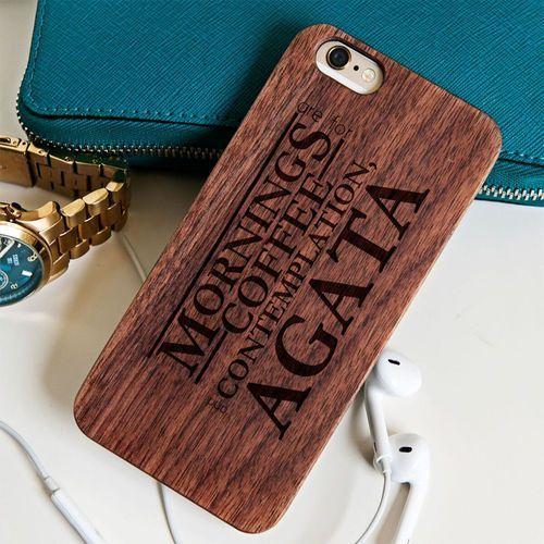 Stranger things - drewniana obudowa - wiśnia - iphone 6+ wyprodukowany przez Mygiftdna