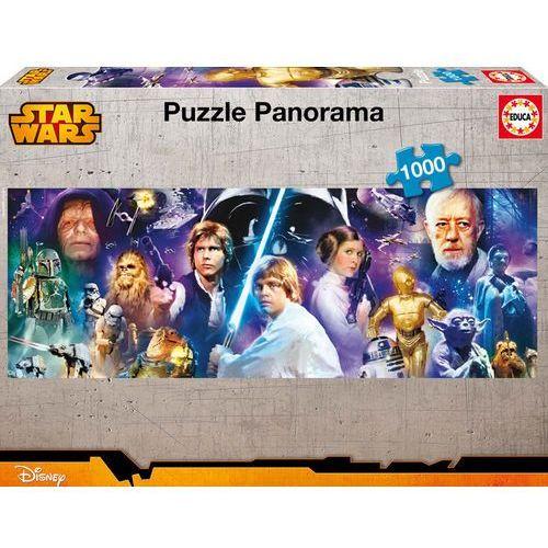 Educa. Panorama Star Wars - puzzle (1000 elementów) - Educa, 1_512835