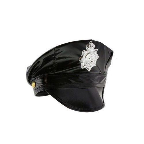 Czapka policjanta czarna - 1 szt. marki Go