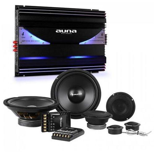 Auna cs-comp-8zestaw samochodowy z 6 -kanałową końcowką mocy i głośnikami marki Elektronik-star