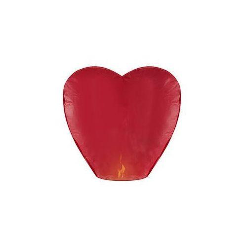 Lampion szczęścia - czerwone serce - 10 szt. marki Party deco