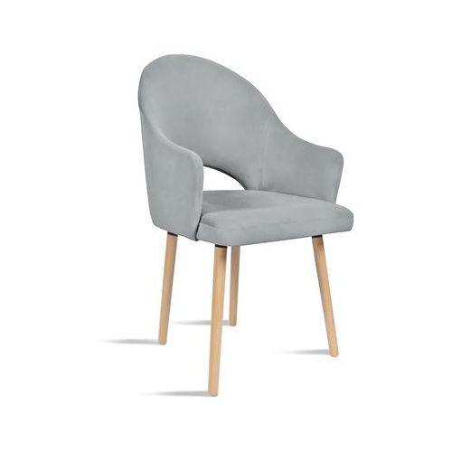 Krzesło BARI jasny szary/ noga dąb/ JA81