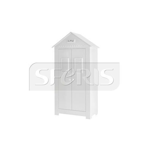 PINIO Marsylia Szafa 2-drzwiowa wysoka biała MDF - 019-042-110