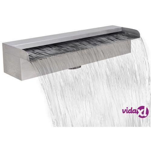 Vidaxl fontanna / wodospad do basenu ze stali nierdzewnej, prostokątny 45 cm (8718475925866)