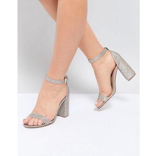 barely there block heel sandal - gold marki London rebel