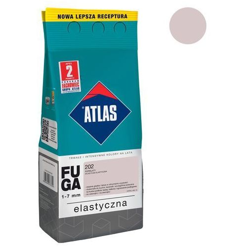 Fuga cementowa 202 popielaty 2 kg ATLAS, W-FU001-B0202-AT2B
