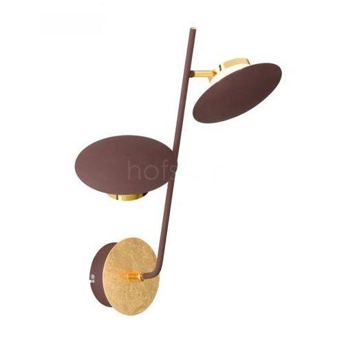 Wofi SALEM Kinkiet LED Złoty, 2-punktowe - Nowoczesny/Design - Obszar wewnętrzny - SALEM - Czas dostawy: od 3-6 dni roboczych (4003474324302)