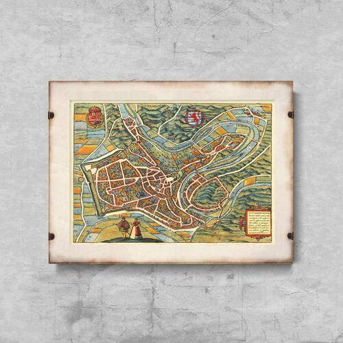 Plakat vintage do salonu plakat vintage do salonu stara mapa luksemburga marki Vintageposteria.pl