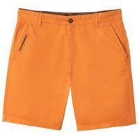 Bermudy chinosy, kolor pomarańczowy
