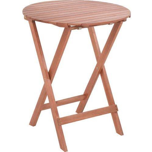 Stolik składany, okrągły BISTRO - drewno eukaliptusowe, Ø 60 cm x H 75 cm (8719202532548)