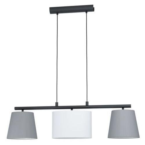almeida 1 98587 lampa wisząca zwis oprawa 3x25w e27 szara/biała marki Eglo