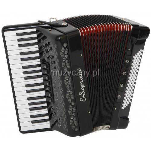 E.soprani  809 kk f 37/3/7 80/5/4 akordeon (czarny, czerwony miech)
