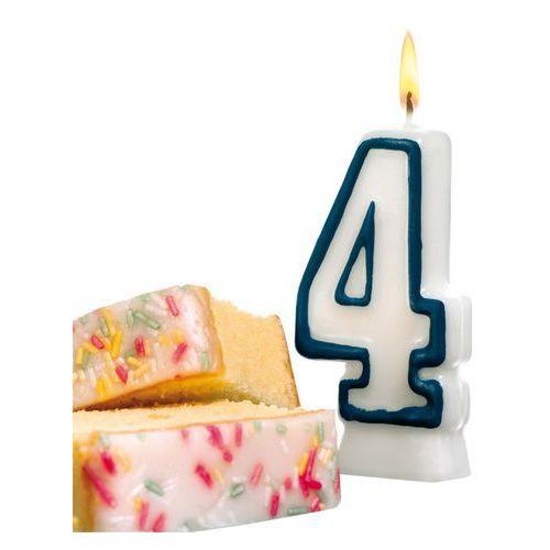 Świeczka na tort urodziny cyfra 4 7,7cm SUSY-CARD - cyfra 4