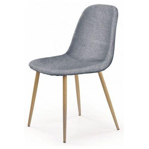 Minimalistyczne krzesło Skoner - popielate, kolor Minimalistyczne