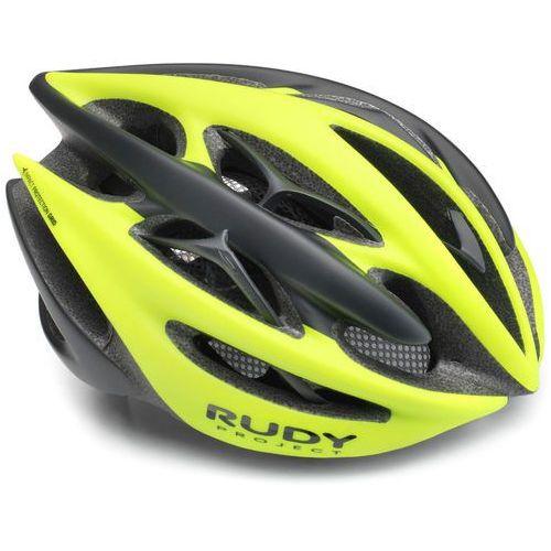Rudy project sterling kask rowerowy żółty/czarny l   59-61cm 2018 kaski rowerowe (0655586080412)