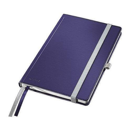 Notatnik w twardej oprawie Leitz Style A6 80 kartek kratka, tytanowy błękit