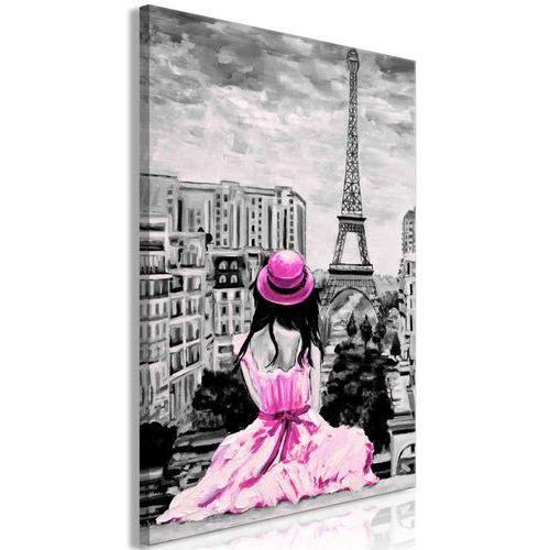 Obraz - paryski kolor (1-częściowy) pionowy różowy marki Artgeist