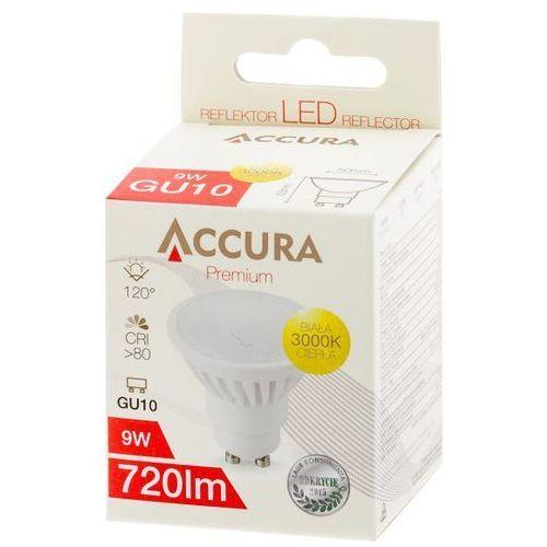 Żarówka LED SMD2835 9W GU10 ciepła ACCURA