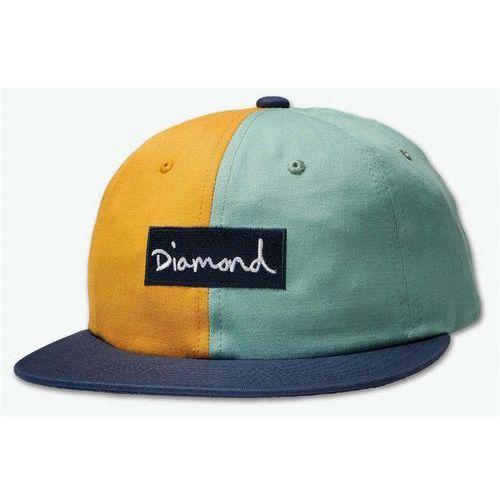Diamond Czapka z daszkiem - split script 2 pan strapback green (grn) rozmiar: os