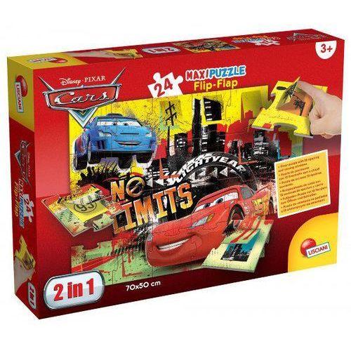 Maxi Puzzle 2w1 Flip-Flap Auta 24 - Lisciani
