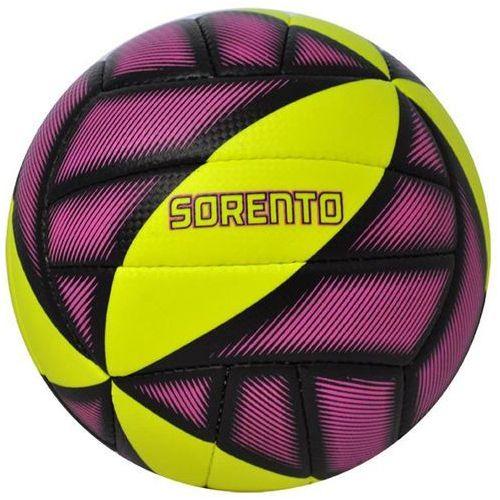 Piłka siatkowa sorento żółto-fioletowy (rozmiar 5) marki Axer sport