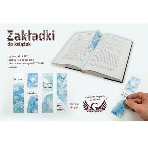 Zakładki do książek komplet 4 szt - akwarele - cyfrowy druk uv - zak005 marki Grawernia.pl - grawerowanie i wycinanie laserem
