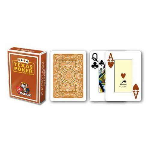 Modiano 2 rogi 100% karty plastikowe - brązowe (8003080505467)
