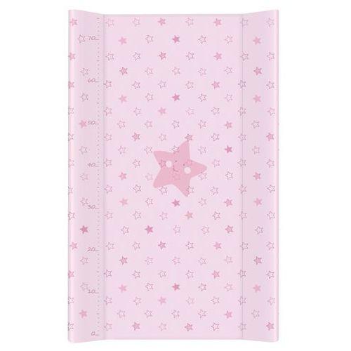 Mamo-tato przewijak na łóżeczko usztywniony 50x70 gwiazdki różowe