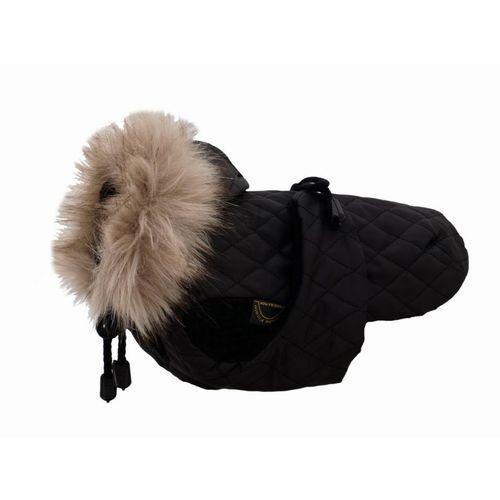 GRANDE FINALE DW11 Derka dla psa czarna alaska z futerkiem KOŃCÓWKA KOLEKCJI