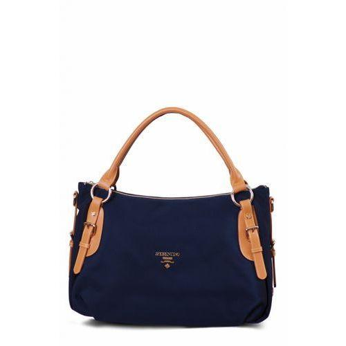 S.Fiorentino podłużna torebka ciemnoniebieska, kolor niebieski