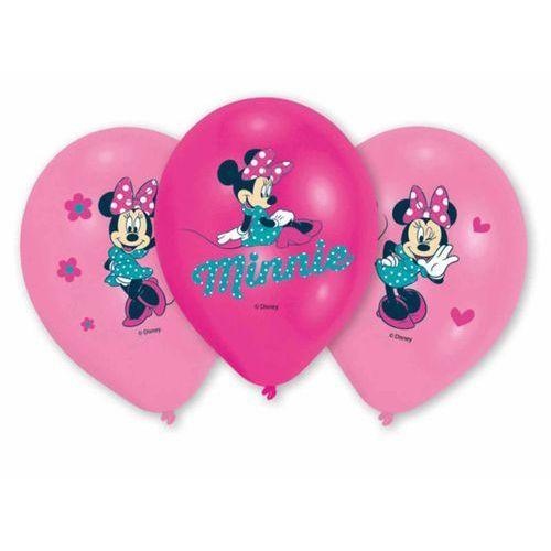 Balony urodzinowe myszka minnie - 27 cm - 6 szt marki Amscan
