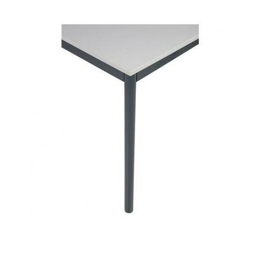 Stół kuchenny - okrągłe nogi, ciemnoszara konstrukcja, 1600x800 mm