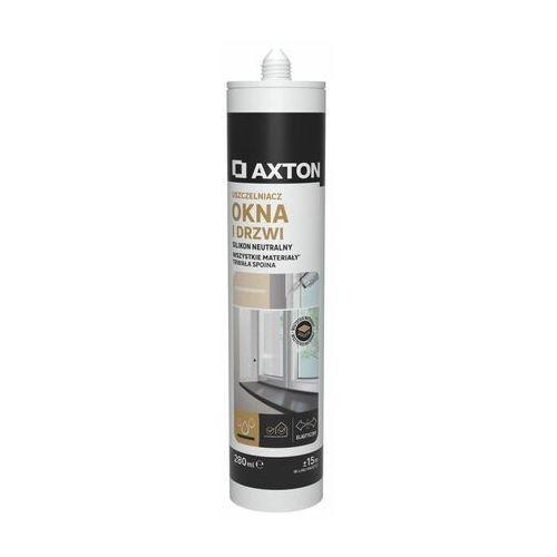 Axton Silikon uszczelniacz neutralny okna i drzwi 280 ml transparentny (3276000709336)