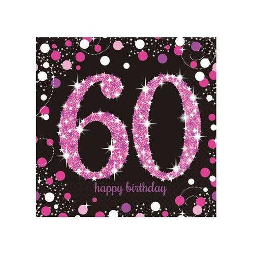 Serwetki na sześćdziesiąte urodziny - 33cm - 16 szt. marki Amscan