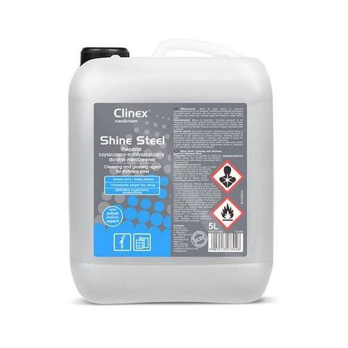 Preparat czyszcząco-nabłyszczający CLINEX Shine Steel 5L 77-500, do stali nierdzewnej