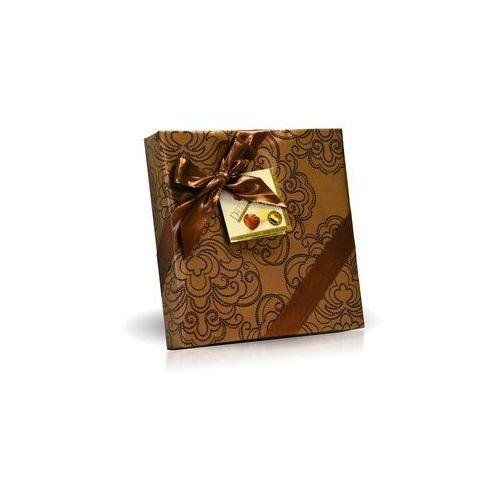 Belgijskie pralinki Delafaille 200g, złote ze wstążką kwadrat (5413202509427)