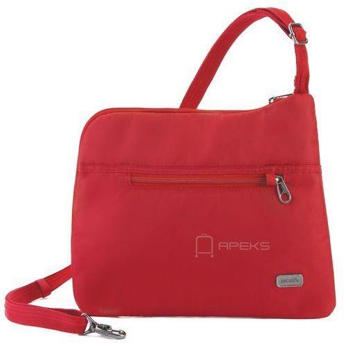 Pacsafe Daysafe Slim Crossbody damska torebka na ramię / czerwona - Baked Apple, kolor czerwony