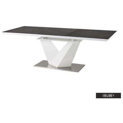 Selsey stół rozkładany aramoko ii 160-220x90 cm szaro - biały (5902409980431)