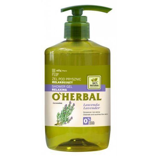 O'herbal relaksujący żel pod prysznic z ekstraktem z lawendy 750 ml marki Elfa pharm