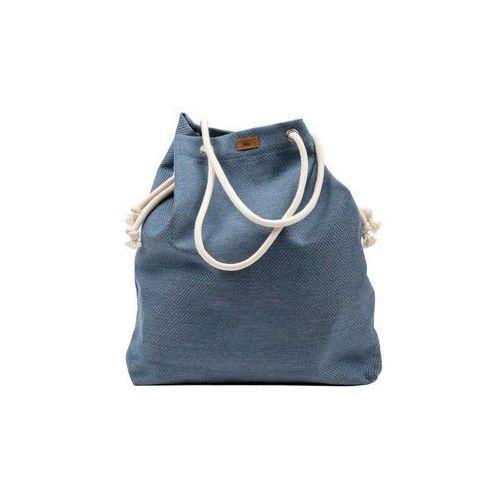 Torba basic z tkaniny niebieska i marki Me&bags