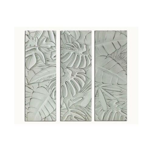 Tryptyk z drewna apio - 39x90x4 cm - kolor biały marki Vente-unique