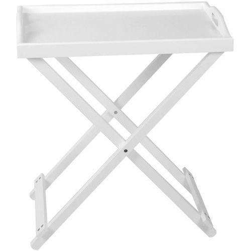 Drewniany stolik, taca kuchenna z nóżkami marki Home styling collection