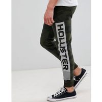 print logo camo print skinny joggers in olive green - green, Hollister, XS-XL
