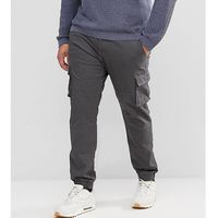 plus cargo trousers with cuffed hem - grey, Only & sons
