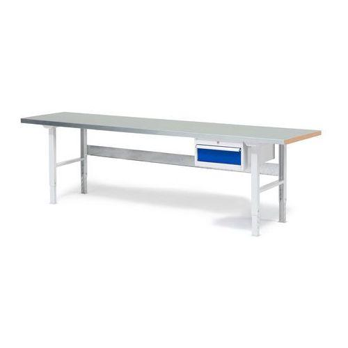 Stół warsztatowy SOLID, z szufladą, 500 kg, 800x2500 mm, stal, 232128