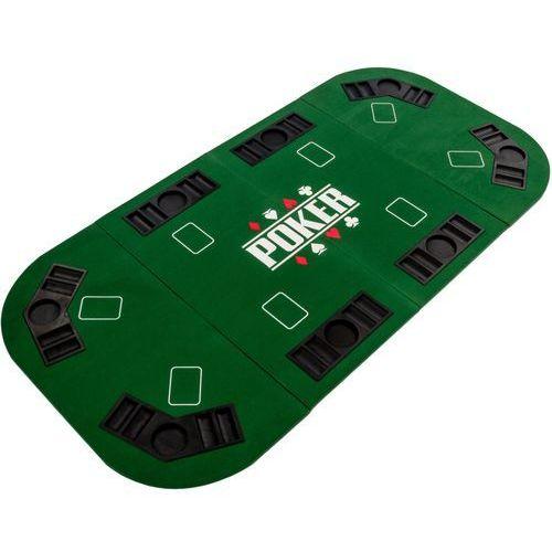 Makstor.pl Zielony blat stół do pokera 160x80 cm poker kasyno - zielony