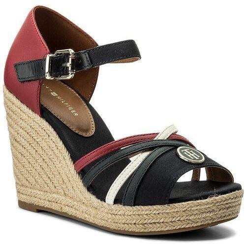77b98ba2925 Czarne sandały dziewczęce marki  fe95998a3cfa Espadryle TOMMY HILFIGER -  Elena Straps Sandal FW0FW02425 Rwb 020